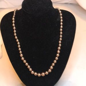 "Vintage Pearl Necklace ..18"" long..signed RMN"